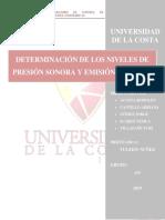 Informe #5 Determinación de Los Niveles de Presión Sonora Ruido Ambiental