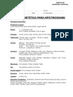 18. Regimen Hipotiroridismo