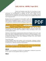 14. Aquino III vs Comelec