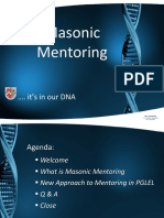 06 PGLEL Masonic Mentoring in Our DNA 1 3 Workshop Roll Out Presentation