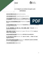 ANEXO II Cronograma Becas Inicio Investigación 2019