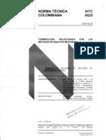Ntc 4525 - Terminología Relacionada Con Los Metodos de Ensayo Mecanicos