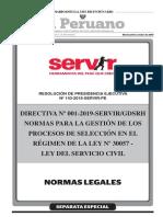 Directiva N° 001-2019-Servir/GDSRH (Peruweek.pe)