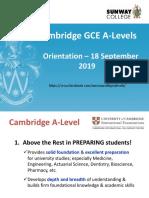A-LEVEL Orientation Slides 201909