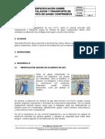 Especificación Cilindros de Gases Comprimidos