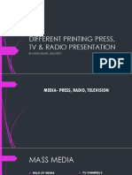 PRESENTATION OF DIFFERENT PRINTING PRESS
