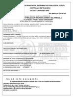 Certificado de Tradición y Libertad de Fredy Pérez