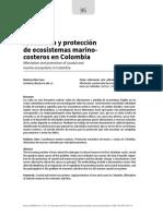 Afectacion de Ecositemas Costeros en Colombia