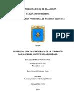 Sedimentología y Estratigrafía de La Formación Carhuáz en El Distrito de La Encañada