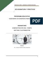 Manual Administración Del Tiempo Energias