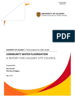 O'Brien Institute for Public Health Report on Community Water Fluoridation
