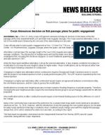NR 19-32 - Corps Announces Decision on Fish Passage; Plans for Public Engagement