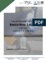DICIEMBRE 2019 -LIMA PERU  Curso Preparación al Examen ASNT NIVEL III
