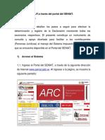 Declaración de ISLR a Través Del Portal Del SENIAT