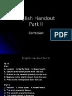 Inglês PPT - Integral - English Handout II
