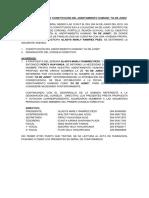 Acta de Fundacion y Estatutos de 04 de Junio