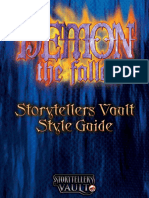 Demon the Fallen Storytellers Vault Style Guide (With Bookmarks) 2-25-2019