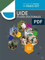 Université Paris-Est - Guide Des Etudes Doctorales 2018-2019