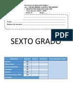 Examen Diagnostico 6to Grado
