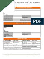 GF0101 Generic Food Certification Questionnaire (1)
