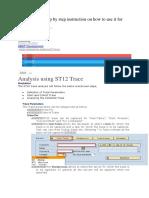 SAP Trace