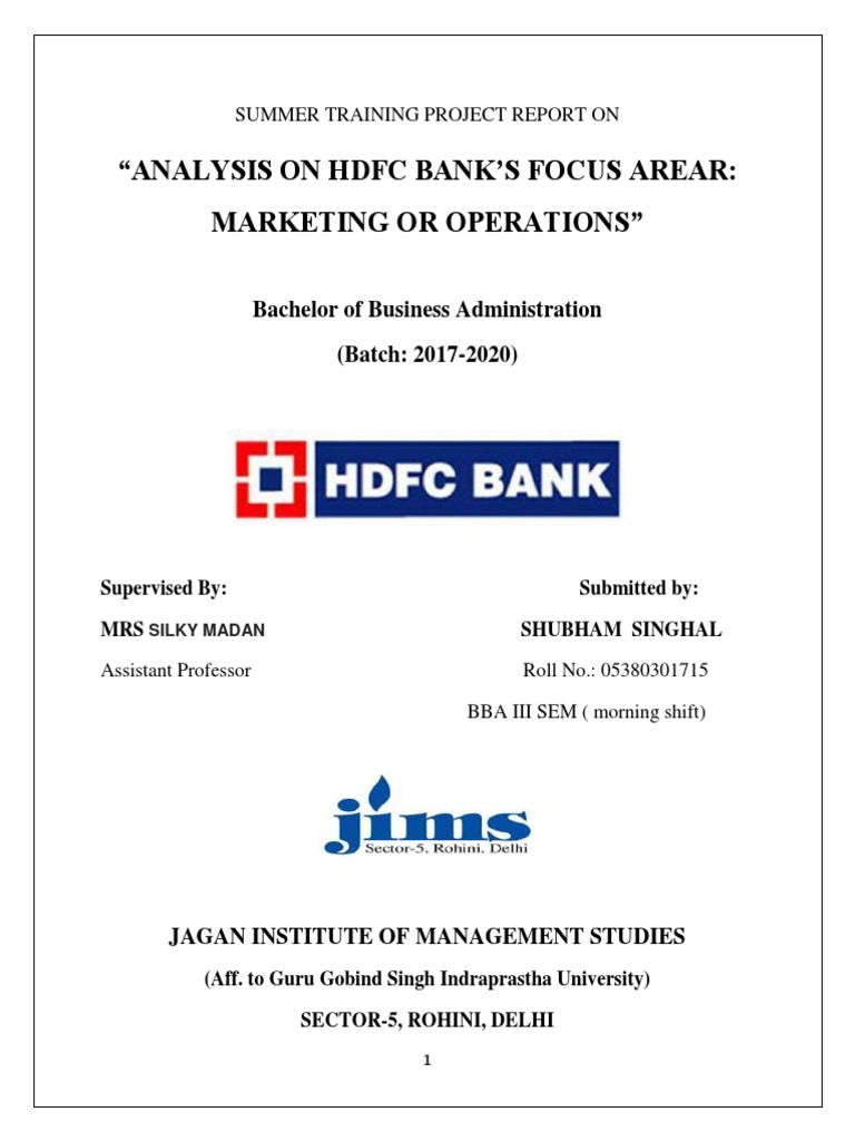 hdfc: bank's focus area, marketing or operations   transaction account   banks