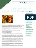 Resfriamento de frutas e hortaliças