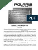 2011 Polaris Ranger RZR SW Service Manual