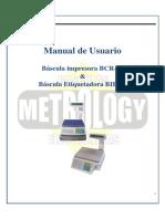 Manual Bascula Metrology BCR-30