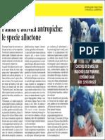 FAUNA E ATTIVITA' ANTROPICHE
