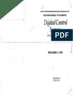 Sisteme Digjitale te Rregullimit -Benjamin Kuo - Solution Manual