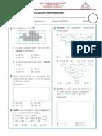 Evaluación de Matemática 8
