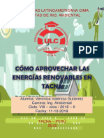 Aprovechamiento de Energías Renovables en Tacna