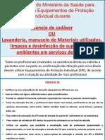 Slide EPI Limpeza e Cadaver 03-12-14