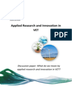 10 - Applied Research - Innovation -VET