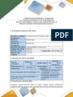 Guía de Actividades y Rúbrica de Evaluación Del Curso Paso 3 Reconocimiento de Herramientas Teóricas