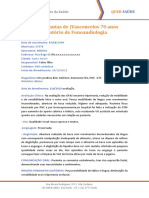 Modelo de Relatório de Fonoterapia Pedro Dantas