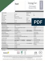 Extravagant Dynamic XXL Technical Datasheet