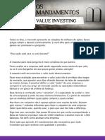 Os 10 Mandamentos Do Value Investing