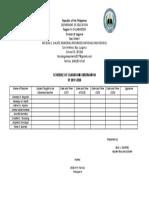 Observation Schedule 2019-2020