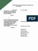 Judgement in FOAC, et al. v. City of Pittsburgh, et al.