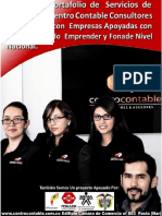 Portafolio Servicios Contables Empresas Fondo Emprender Centro Contable