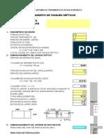 Diseño Hidraulic Tanque Septico y Pozo Percolador
