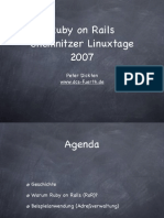 German Tutorial for Ruby on Rails