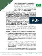 Acta de Levantamiento de Suspension Plazo Pan de Azucara