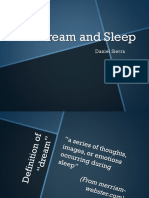 Dream and sleep