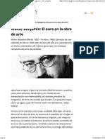 Walter Benjamin El Aura en La Obra Del Arte