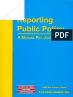 Reporting Public Policy