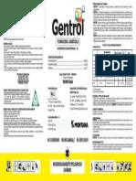 Etiqueta Fungicida Gentrol