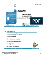 Alphorm.com Ressources Formation Exchange 2016 Installation Et Configuration